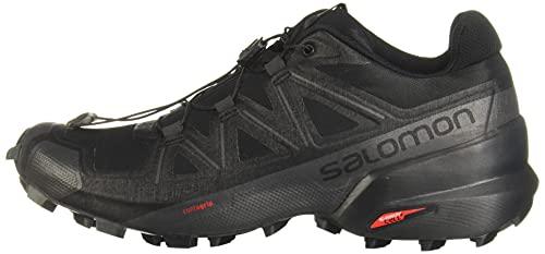 Salomon Women's Speedcross 5 W Trail Running, Black/Black/Phantom, 8
