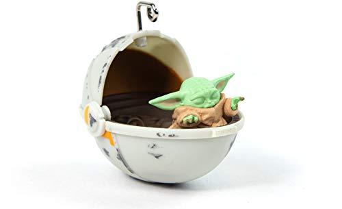 numskull - Figura Decorativa para árbol de Navidad, diseño de la Guerra de Las Galaxias, el Mandalorian bebé Yoda el niño 3D, Color Gris
