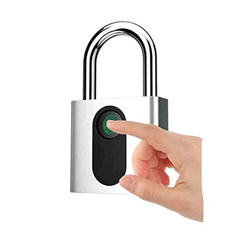WYZXR Cerradura elegante de la seguridad del candado de la huella dactilar con la recarga del USB, cerradura sin llave antirrobo impermeable IP65