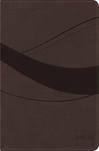 RVR 1960 Biblia del Pescador Letra Grande, Cafe Símil Piel
