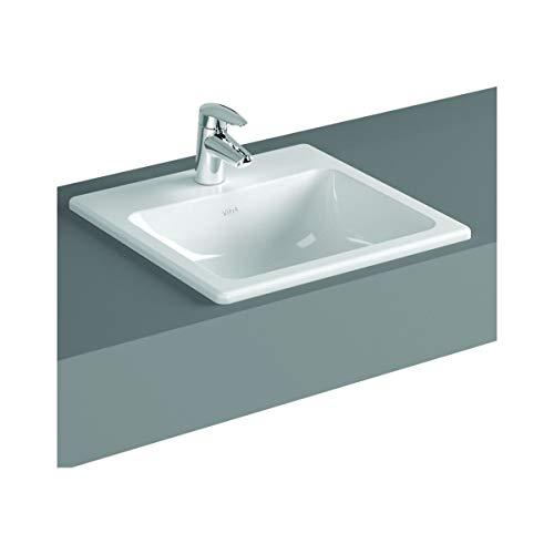 VitrA S20 Waschbecken, quadratisch, 55 x 45 cm, Weiß