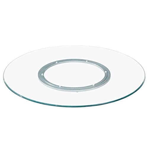 STEPPE Mesa Giratoria con Cojinete de Aleación de Aluminio,Base Giratoria para Pastel 80cm para Mesa de Comedor No es Fácil de Inclinar