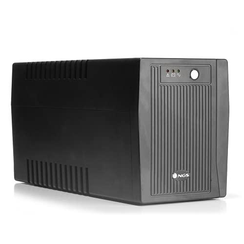 NGS FORTRESS2000V2 - 1500 VA / 900 watts - 4 prises avec batterie et protection contre les surtensions - Port USB et logiciel permettant de surveiller l'état de l'onduleur, d'envoyer des alertes et éteindre automatiquement votre ordinateur.