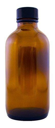 Amber Colored Glass Jar