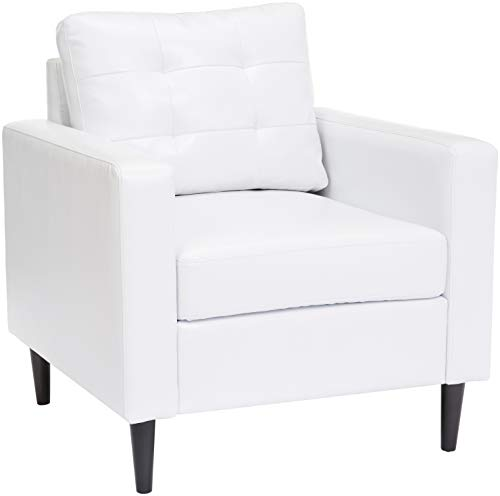 Red Hook Cascais Faux-Leather Accent Chair - White