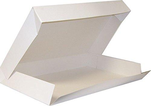 FaisTonGateau - Scatole/vassoi per Alimenti, 19x28 cm, Confezione da 25, Colore: Bianco