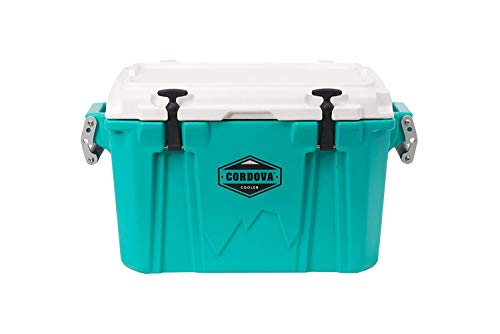 Cordova Coolers Small Cooler - 28 Quart/Can Capacity Portable Insulated Hard-Sided Cooler with Carrying Handles & 5-Days of Ice Retention - CCSA-28QT