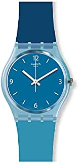Swatch GS161 Silicone Blue Dial Contrast Markers Round Analog Unisex Watch