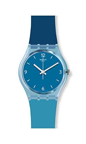 Swatch Unisex Erwachsene Analog Quarz Uhr mit Silikon Armband GS161