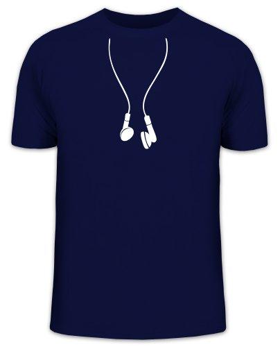 Shirtstreet24, IN EAR HEADPHONES, Kopfhörer Funshirt, Größe: S, dunkelblau