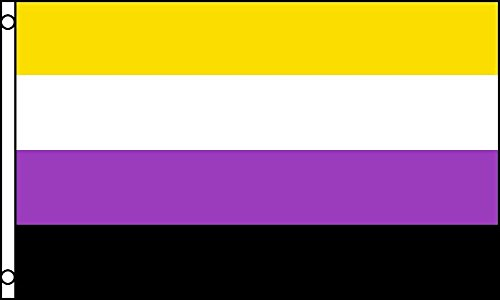 AZ FLAG Flagge Non-Binary STOLZ 150x90cm - GENDERQUEERE Fahne 90 x 150 cm - flaggen Top Qualität