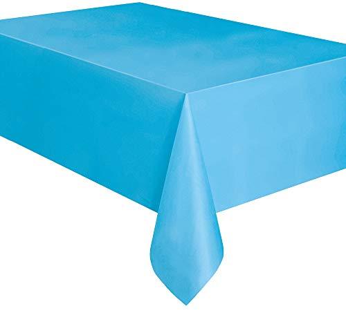 Kunststoff-Tischdecke, 2,74 x 1,37 m, babyblau, Einheitsgröße