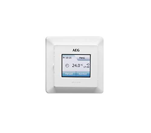 AEG Haustechnik 233919 Fußboden- und Raumtemperaturregler FRTD 903 TC, Touchscreen mit Farbdisplay, Komfort-Eco-Modus, Wochenprogramme, weiß, Komfortregler Touch