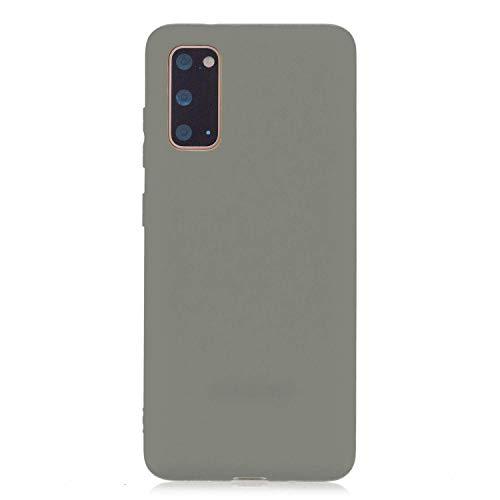 CUZZCASE Funda para Samsung Galaxy A31+{Protector de Pantalla de Vidrio Templado} Carcasa Silicona Suave Gel Rasguño y Resistente Teléfono Móvil Cover-Gris