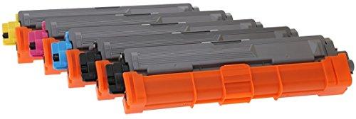 TONER EXPERTE® TN-241 TN-245 5 Cartuchos de Tóner compatibles para Brother DCP-9015CDW DCP-9020CDW MFC-9140CDN MFC-9330CDW MFC-9340CDW HL-3140CW HL-3142CW HL-3150CDW HL-3152CDW HL-3170CDW HL-3172CDW
