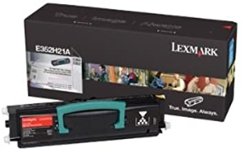 Lexmark E352H21A High Capacity Black Toner Cartridge