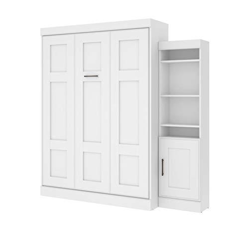"Bestar Queen Murphy Bed with one 21"" Storage Unit and Door, Edge Collection"