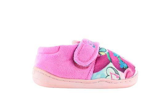 Trolls Poppy Love Girls Slippers Infants Size 11 Pink