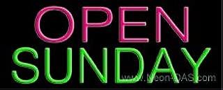 Open Sunday Outdoor Neon Sign 13 x 32