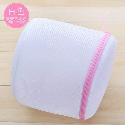 1pcs kleren Wasmachine wasgoed wassen zakken Bra Aid Kousen shirt sok Lingerie Saver Mesh Undies Net Wash Bag Pouch Basket (Color : White)