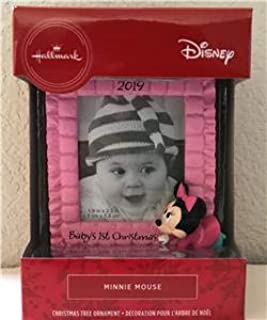 Hallmark 2019 DISNEY Baby's 1st Christmas MINNIE MOUSE Picture Frame ORNAMENT