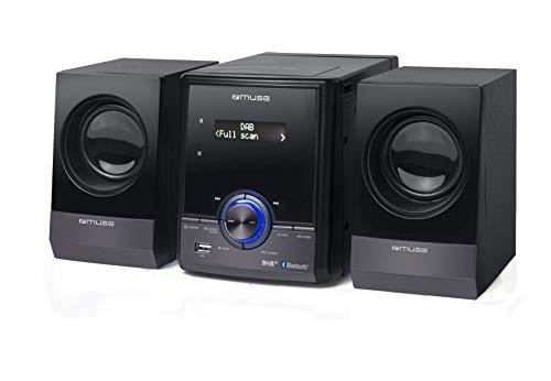 Muse M-39 DBT DAB Bluetooth stereo-installatie met cd-speler, USB en wekfunctie (UKW, DAB+, MP3, RDS, equalizer, AUX), 2 x 10 Watt, zwart