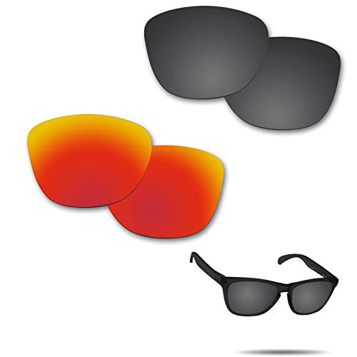 【2 pairs packed】Fiskr 剥がれ防止 Oakley Frogskins交換用レンズ オークリー フロッグスキン 偏光レンズ
