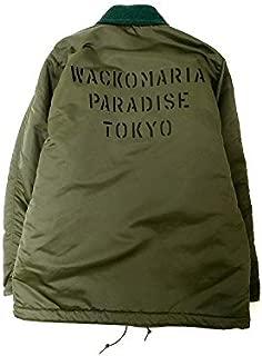 [ワコマリア] 18AW 日本製 IMPERMEBLE DECK JACKET TYPE-2 ナイロン デッキジャケット キルティング バックプリント S KHAKI ky190131-1 メンズ