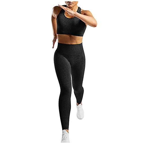 Allence Damen Sportanzug Jogginganzug Trainingsanzug 2Pcs Outfit Set Sport Laufen Yoga Anzug Sexy Fitness Anzüge Sportbekleidung Set Weste + Leggings