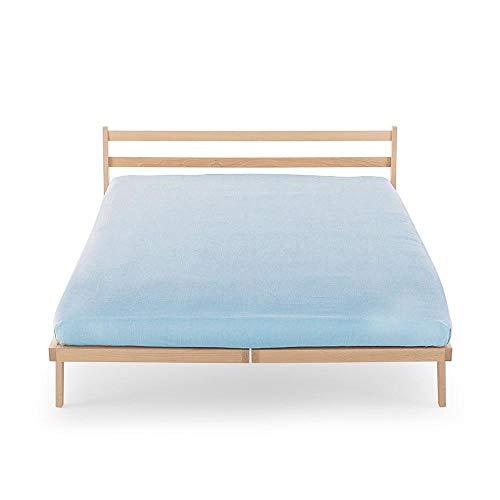 Happidea Spannbettlaken für Doppelbett hellblau 175 x 200 cm