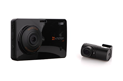 Trending Autoparts XMOTION L2: 2-Channel True HD Front and Rear Premium In-Car Dashcam 3.5' Touch...