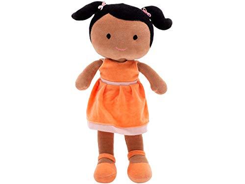 Boneca de Pano Negra Juju Menina em Tecido Antialérgico com Certificado do Inmetro
