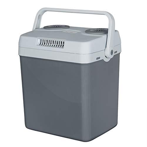 WOLTU KUE008dgr Kühlbox, Tragbarer Mini Kühlschrank, 22 Liter Isolierbox zum Warmhalten, Kühlen für Auto, Van, Fahrzeug, Boot für Camping, Reisen, Angeln - DC 12V & AC 220V Grau