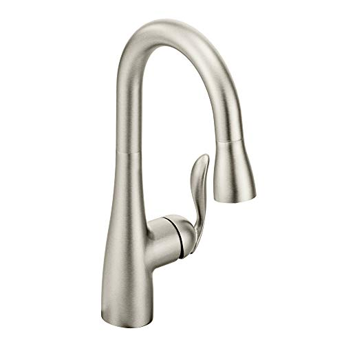 Moen 5995SRS Arbor One Handle High Arc Pulldown Bar Faucet with Reflex, Spot Resist Stainless