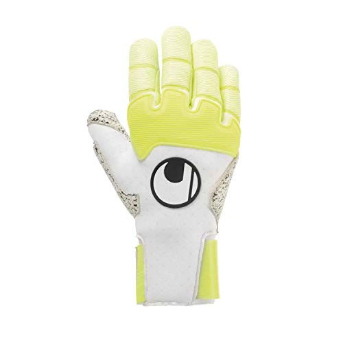 uhlsport Pure Alliance Supergrip+ Reflex Handschuhe, Guanti da Uomo. Unisex Adulto, Bianco/Giallo Fluo e Nero, 7.5