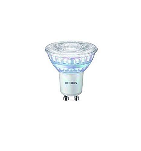 Philips Faretto LED, 2 Pezzi, Equivalente a 50W, Attacco GU10, Luce Bianca Calda, Dimmerabile