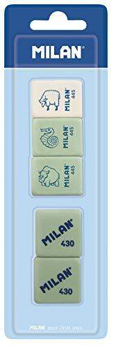 Milan BMM97011 - Pack de 5 gomas de borrar