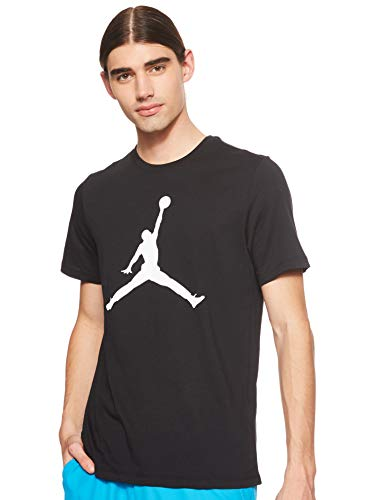 NIKE M J Jumpman SS Crew Short Sleeve T-Shirt, Hombre, Black/White, S