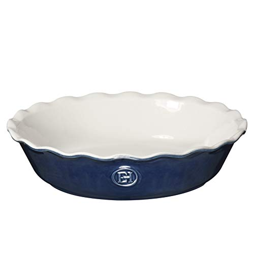 "Emile Henry Made In France HR Modern Classics Pie Dish, 9"", Blue"