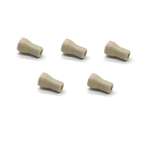VABODENTAL Dental SE Tip Saliva Ejector Tip Head, Pkg of 5, Light Grey