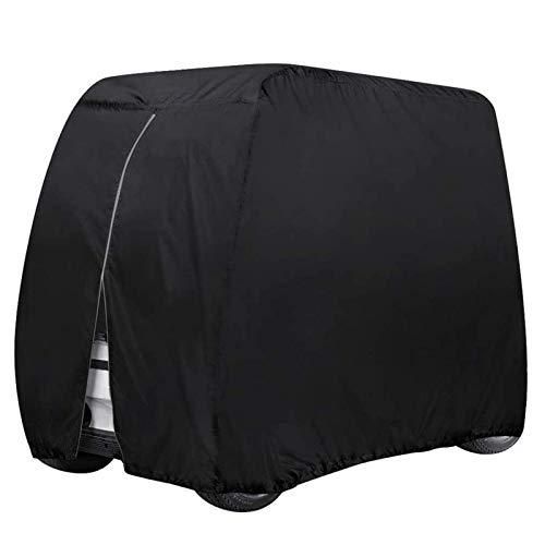 JLKDF Cubierta Impermeable para Carrito de Golf para 2 o 4 pasajerosCubierta de Carrito de Golf para Carrito de clubCubierta de prevención de Polvo para Carrito de Golf para Autos de CLU