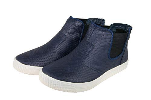 bonprix Damen Boots Stiefellette Farbe: Blau Größe: 36