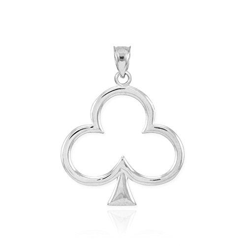 925 Sterling Silver Celtic Clover Leaf Charm Shamrock Pendant