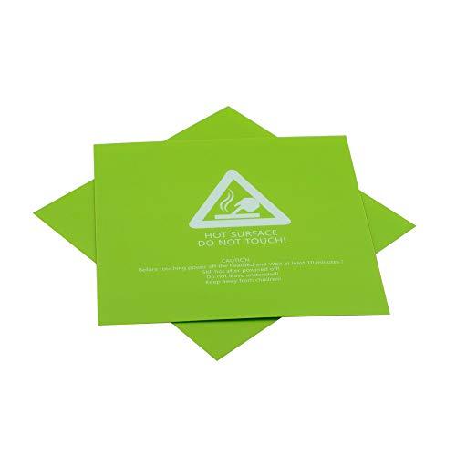 HUANRUOBAIHUO 2pcs 300x300mm Stampante 3D Hot Heat Bed Adesivo Verde Stampato a Caldo Letto di Superficie Sticker Parte for Stampante 3D Accessori Promozione Parti della Stampante 3D