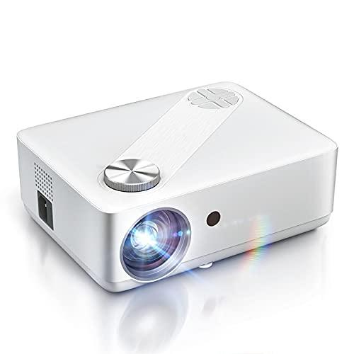 LLZH Proyector, proyector de películas Nativo de 1080p, proyector de Video Full HD Compatible con Android, PC, TV Box, PS4 para casa/al Aire Libre/Juegos