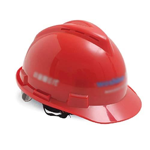 Einstellbare Schutzhelm-Belüftung Mit V-förmigem Schutzhelm Und Schwitzpolster Für Den Kopfschutz Von Baustellenarbeitern, Mehrfarbig (Color : Red)