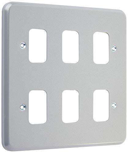 MK Electric Metalclad Plus Grid Plus Frontplatte mit 6 Modulen