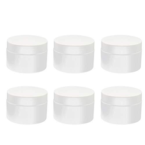 Échantillon de bouteilles cosmétiques Beaupretty, récipients en plastique transparent vides avec couvercles, pots de pots cosmétiques de 15 grammes pour le voyage, 6 pièces