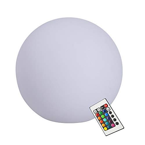 Globo Resplandor Multi LED Impermeable, Lámpara de Humor RGB Recargable en Color, Alimentación USB para Regalo de Niños, Fiesta, Patio Trasero, Césped, Decoración de Boda (Size : 50cm/16.7in)
