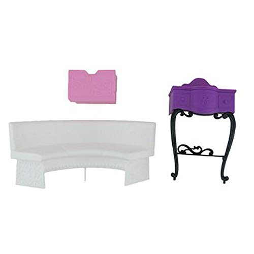 Barbie Malibu Dreamhouse - Piezas de repuesto para sofá/tocador.